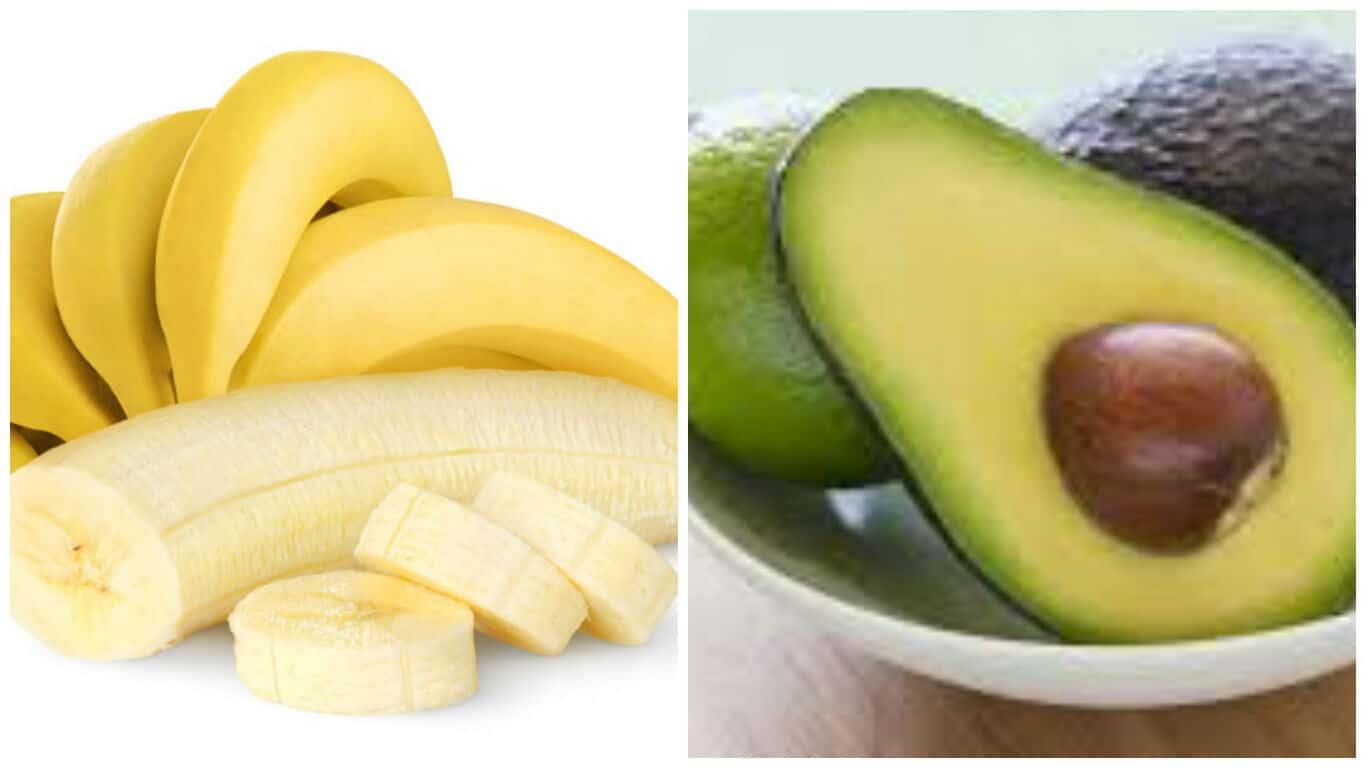 Banana avocado face mask
