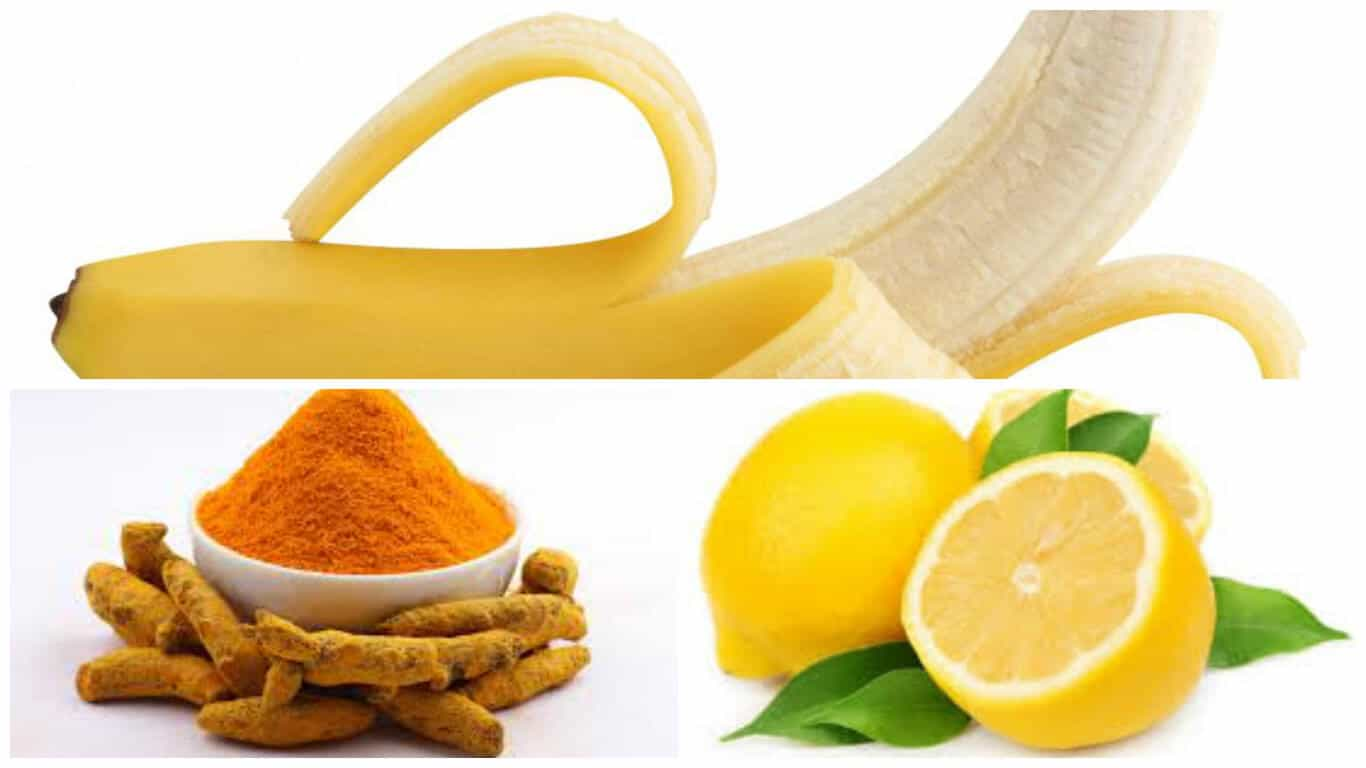 Banana turmeric face mask