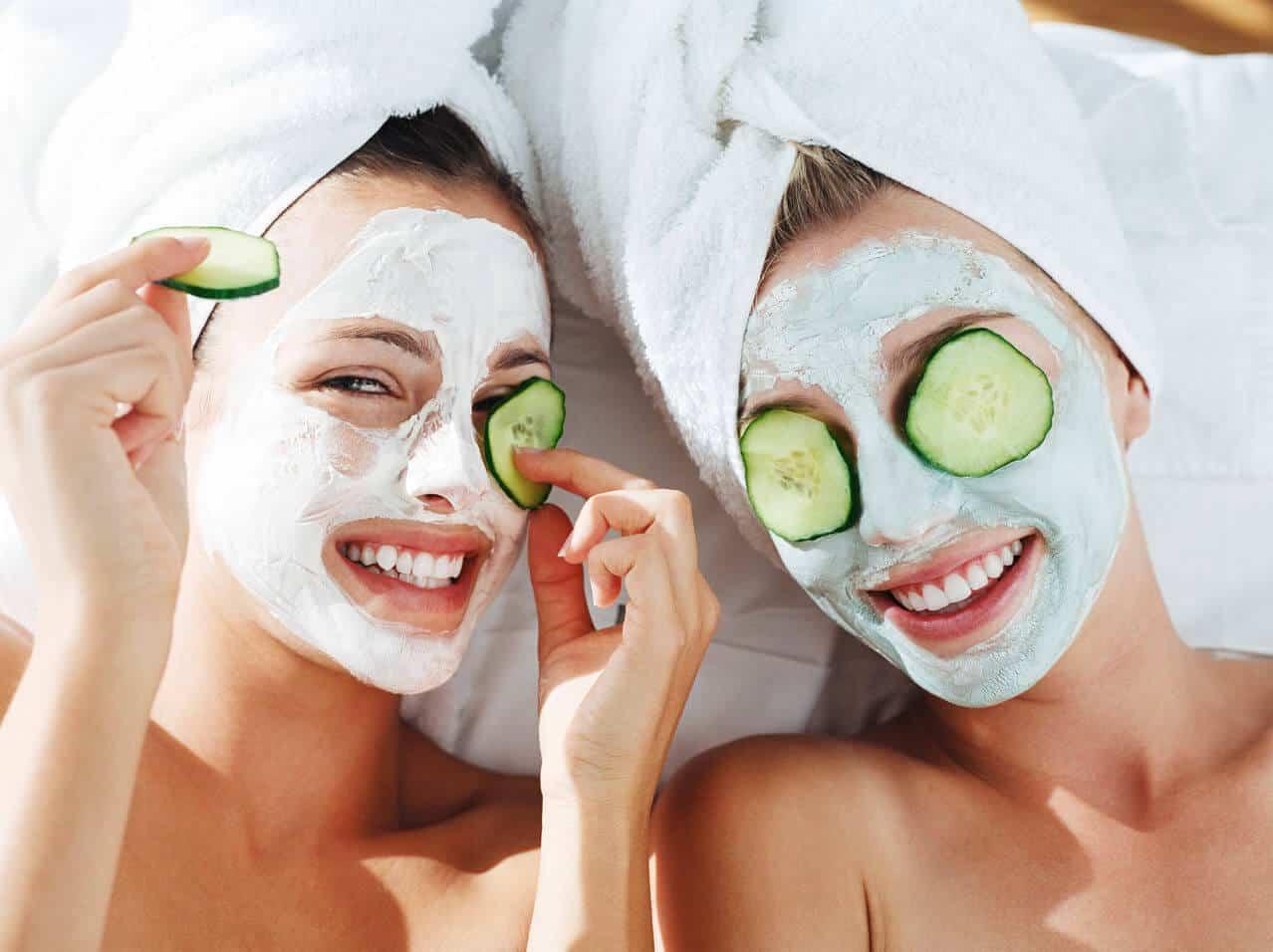 Cucumber face mask