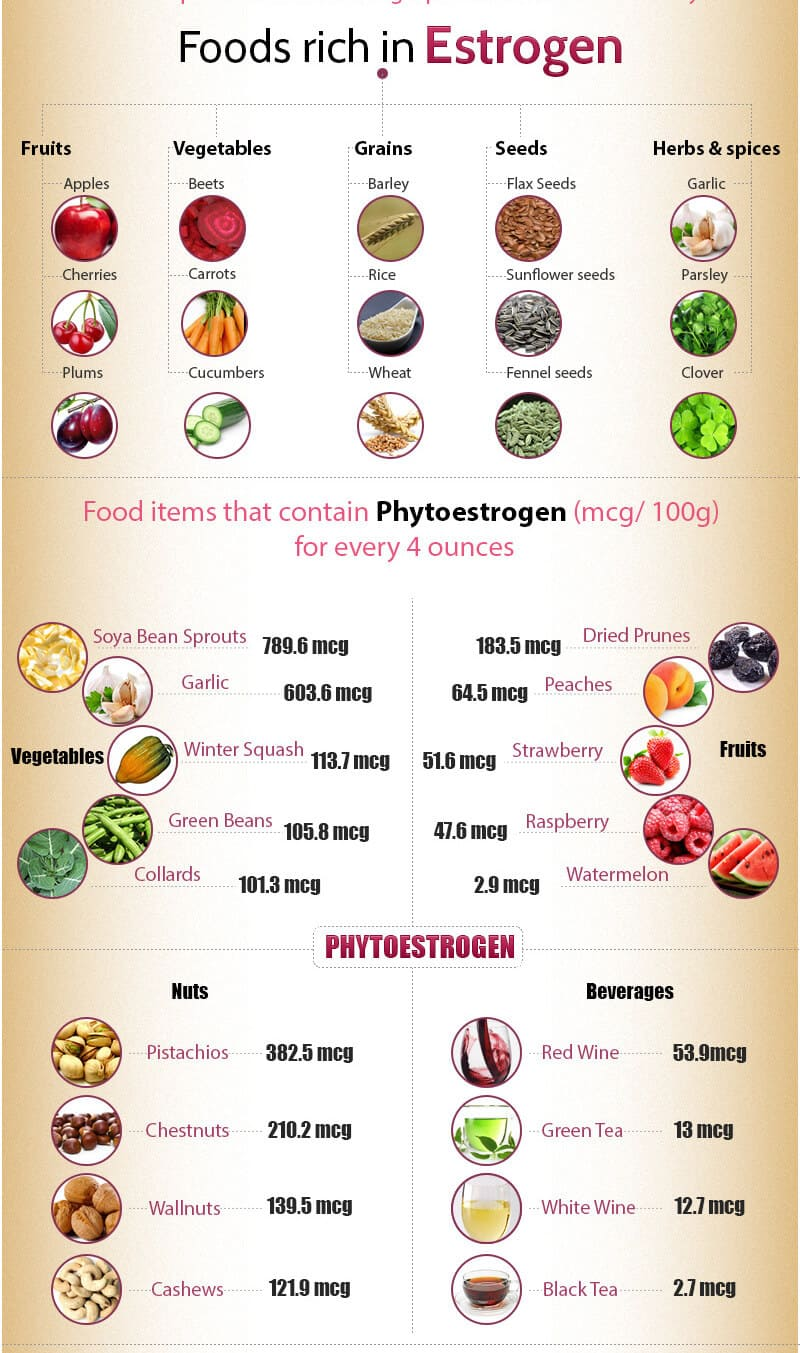 Low Estrogen Foods List