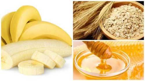 Banana oatmeal face mask