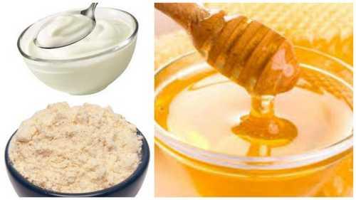 Yogurt honey face mask