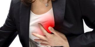 sharp pain under left breast