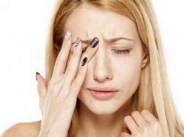 sharp pain behind eye